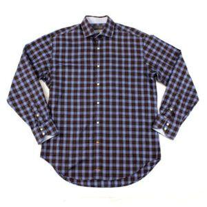 Thomas Dean Casual Men's Shirt Long Sleeve Size M